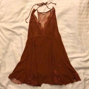 Free People Rust / Burnt Orange Babydoll Dress